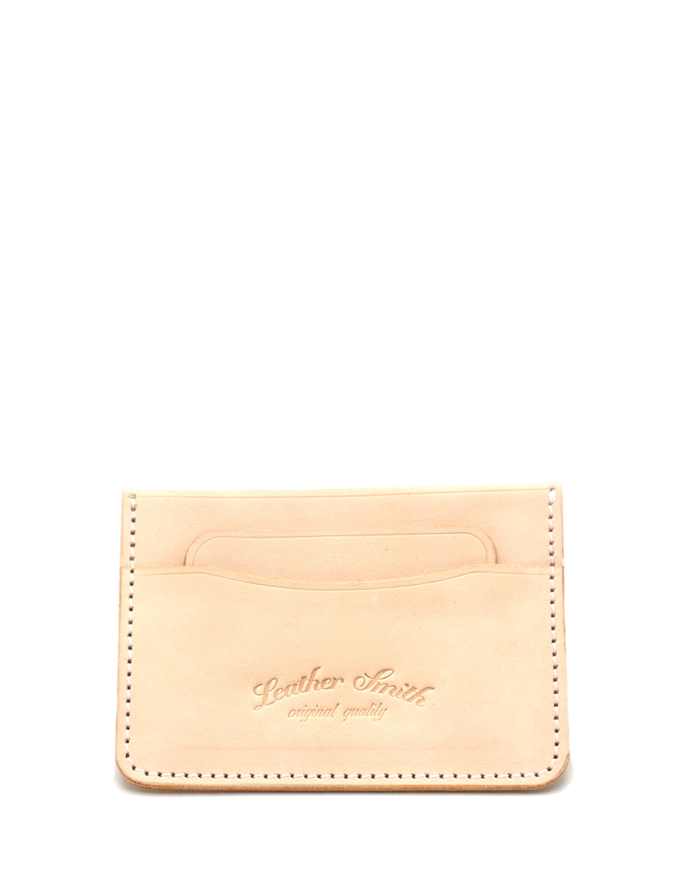 [LEATHER SMITH]  CARDCASE(beige)