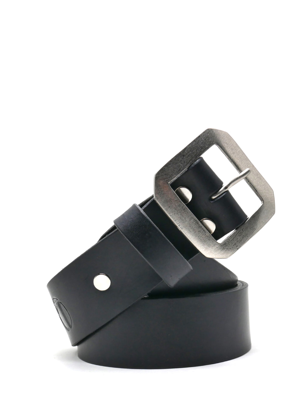 [LEATHER SMITH]  compulsory single belt(black&silver)