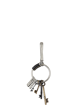 leather patch keyring (2color)