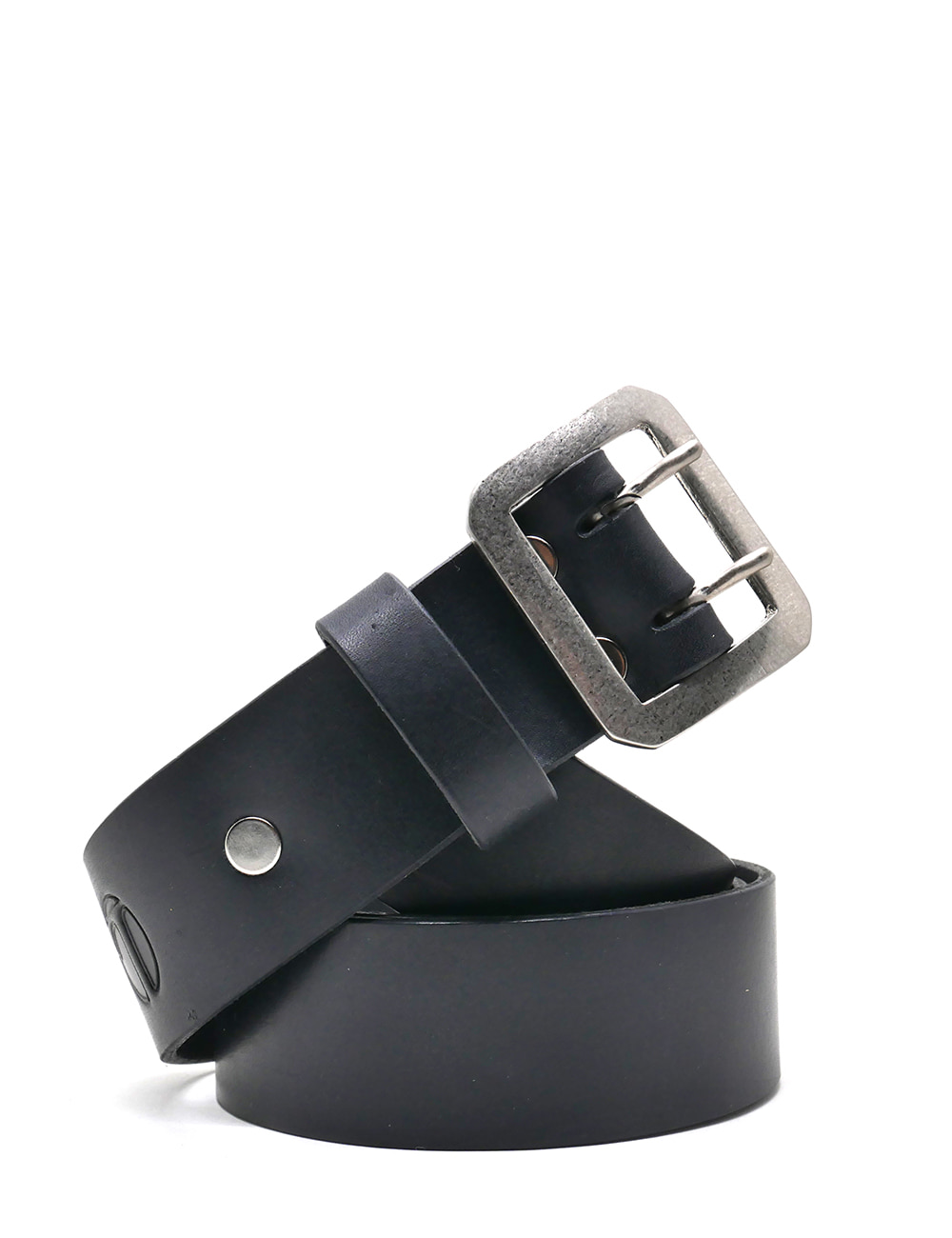 [LEATHER SMITH]  composury double belt(black&silver)